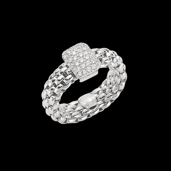 Ring Fope Flex'it Vendôme aus 750 Weißgold mit mehreren Brillanten (0,41 Karat) Größe L (58-61)