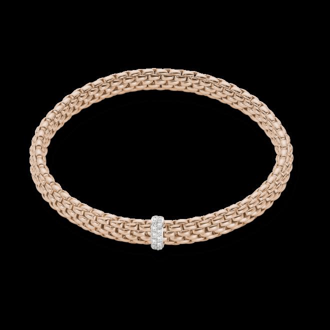Armband Fope Flex'it Vendôme Roségold aus 750 Roségold mit 12 Brillanten (0,1 Karat) Größe L