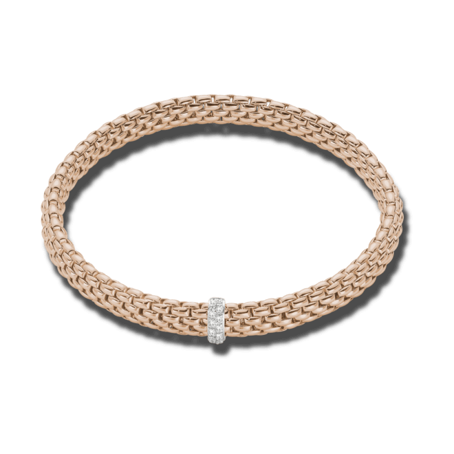 Armband Fope Flex'it Vendôme Roségold aus 750 Roségold mit 12 Brillanten (0,1 Karat) Größe S