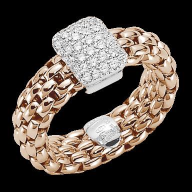 Fope Ring Flex'it Vendôme Roségold AN560-PAVES_RG