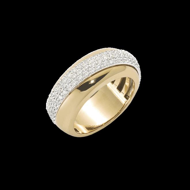 Ring Fope Vendôme aus 750 Gelbgold mit mehreren Diamanten (0,53 Karat)