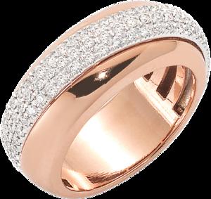 Ring Fope Vendôme aus 750 Roségold mit mehreren Diamanten (0,53 Karat)