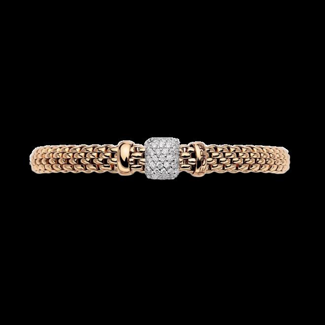 Armband Fope Vendome Flex'it aus 750 Roségold und 750 Weißgold mit mehreren Brillanten (0,41 Karat) Größe XS bei Brogle