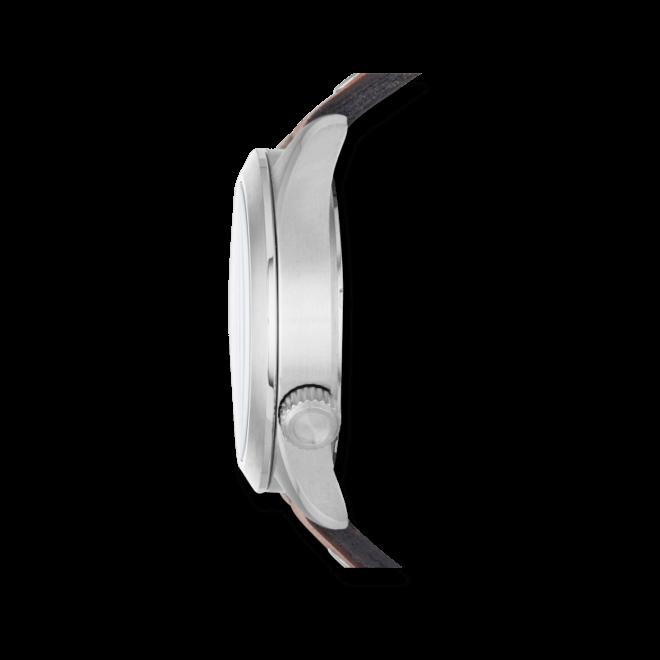 Herrenuhr Fossil The Aeroflite 44mm mit blauem Zifferblatt und Kalbsleder-Armband