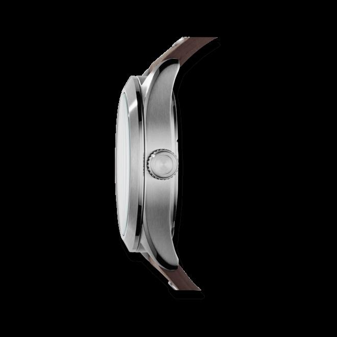 Herrenuhr Fossil The Aeroflite 44mm mit weißem Zifferblatt und Kalbsleder-Armband
