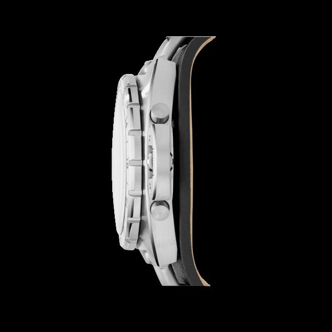 Herrenuhr Fossil Breaker all Terrain 45mm mit schwarzem Zifferblatt und Rindsleder-Armband