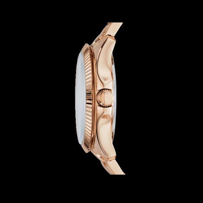 Damenuhr Fossil Cecile 40mm mit roségoldfarbenem Zifferblatt und Edelstahlarmband