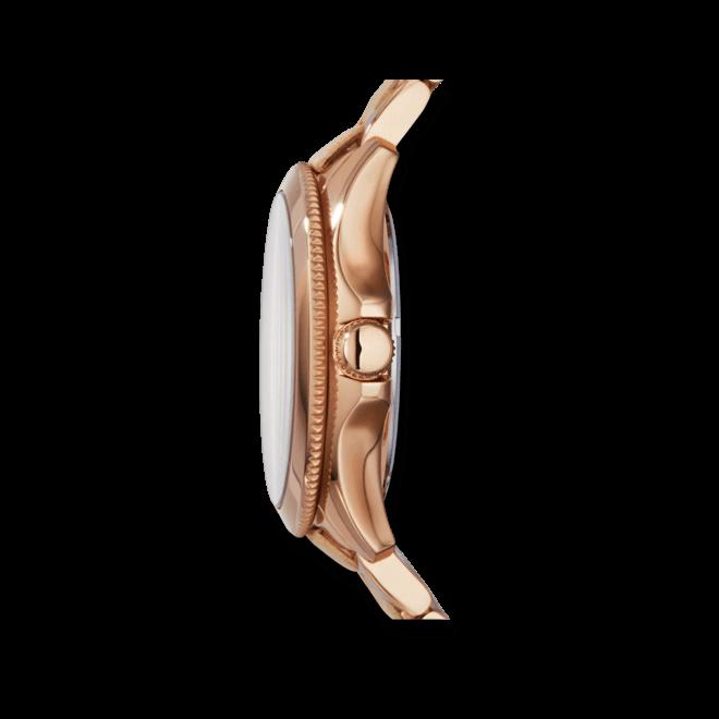 Damenuhr Fossil Cecile 40mm mit weißem Zifferblatt und Edelstahlarmband