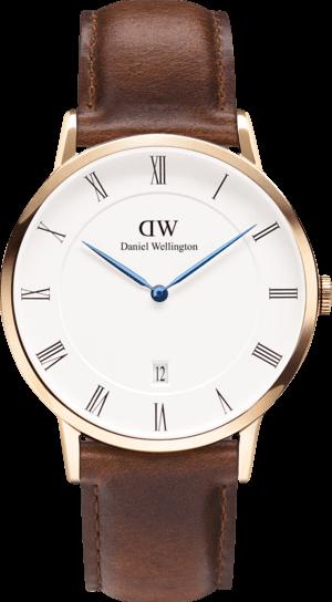 Herrenuhr Daniel Wellington Dapper St. Mawes mit weißem Zifferblatt und Kalbsleder-Armband