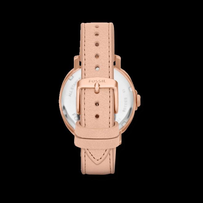 Damenuhr Fossil Chelsey 39mm mit champagnerfarbenem Zifferblatt und Kalbsleder-Armband