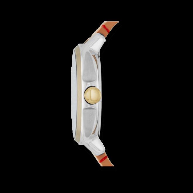 Damenuhr Fossil Chelsey 39mm mit weißem Zifferblatt und Kalbsleder-Armband