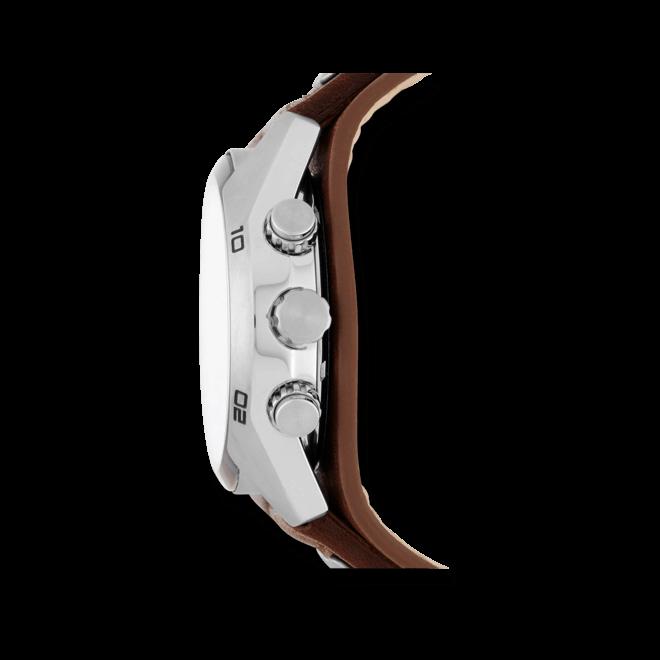 Herrenuhr Fossil Coachman 44mm mit schwarzem Zifferblatt und Rindsleder-Armband