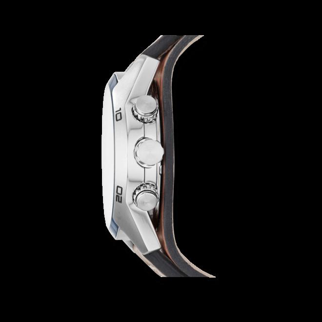 Herrenuhr Fossil Coachman 45mm mit weißem Zifferblatt und Rindsleder-Armband