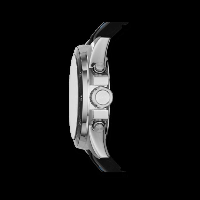 Herrenuhr Fossil Decker 44mm mit schwarzem Zifferblatt und Silikonarmband
