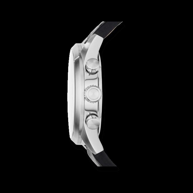 Herrenuhr Fossil Del Rey 43mm mit schwarzem Zifferblatt und Kalbsleder-Armband