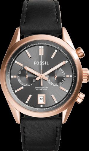 Herrenuhr Fossil Del Rey 46mm mit grauem Zifferblatt und Kalbsleder-Armband