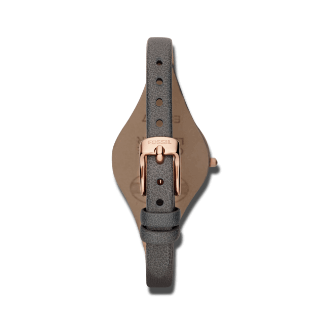 Damenuhr Fossil Georgia 32mm mit grauem Zifferblatt und Rindsleder-Armband