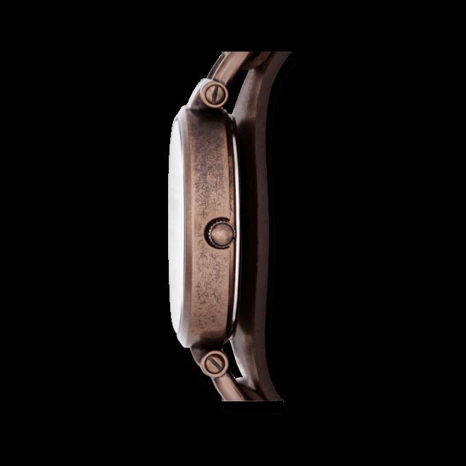 Damenuhr Fossil Georgia 32mm mit braunem Zifferblatt und Rindsleder-Armband
