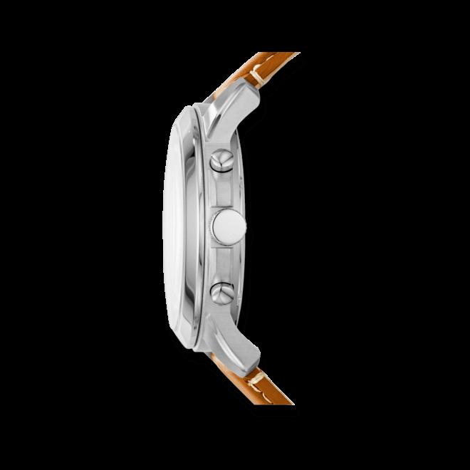 Herrenuhr Fossil Grant 45mm mit beigefarbenem Zifferblatt und Kalbsleder-Armband