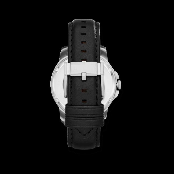 Herrenuhr Fossil Grant Automatik 44mm mit weißem Zifferblatt und Kalbsleder-Armband