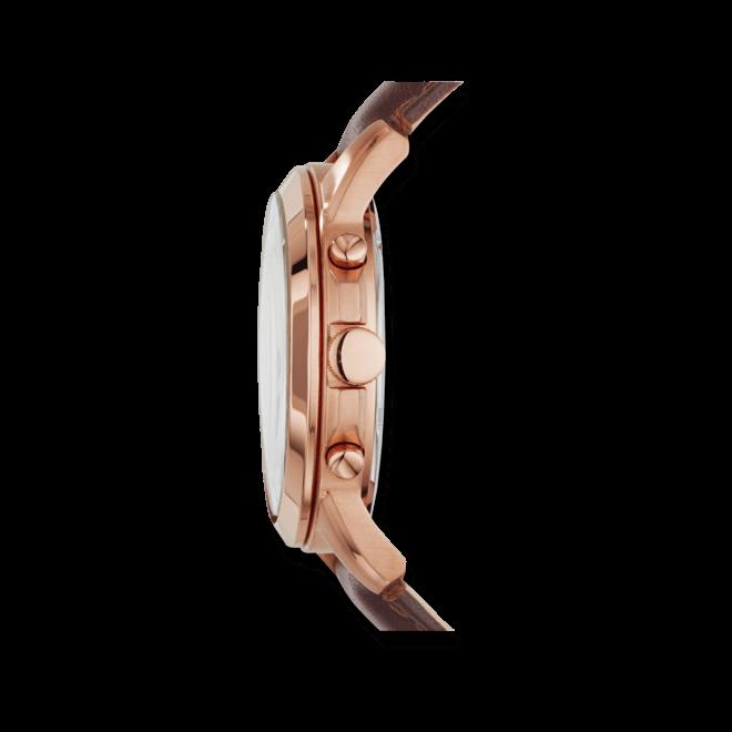 Herrenuhr Fossil Grant Chronograph 44mm mit cremefarbenem Zifferblatt und Kalbsleder-Armband
