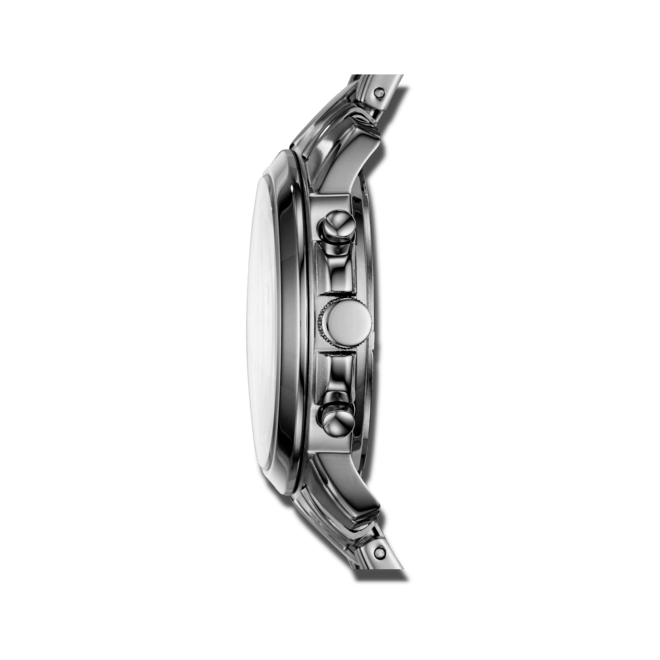 Damenuhr Fossil Gwynn Quarz Chronograph 38mm mit weißem Zifferblatt und Edelstahlarmband