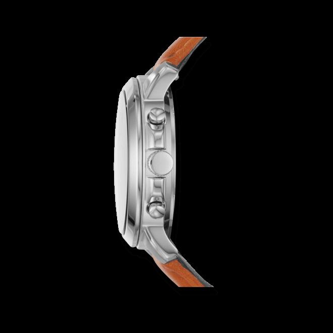 Damenuhr Fossil Gwynn Quarz Chronograph 38mm mit cremefarbenem Zifferblatt und Kalbsleder-Armband