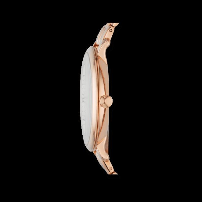 Damenuhr Fossil Jacqueline 36mm mit roségoldfarbenem Zifferblatt und Edelstahlarmband
