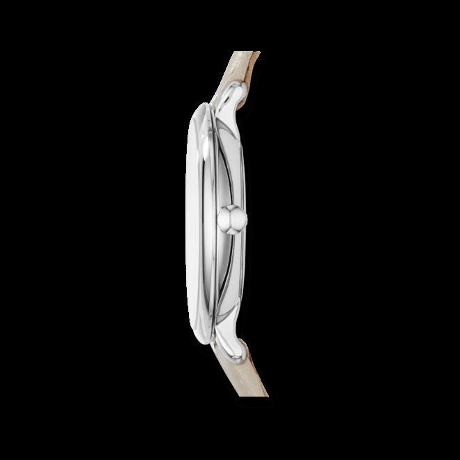 Damenuhr Fossil Jacqueline 36mm mit silberfarbenem Zifferblatt und Kalbsleder-Armband