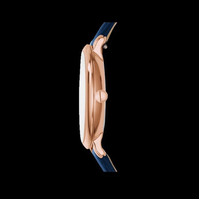 Damenuhr Fossil Jacqueline 36mm mit silberfarbenem Zifferblatt und Rindsleder-Armband