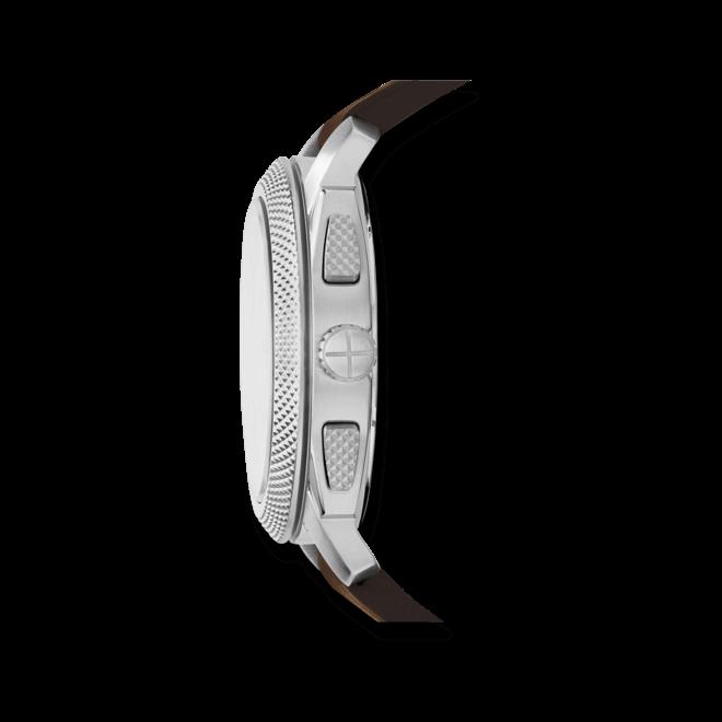 Herrenuhr Fossil Machine Chronograph 45mm mit cremefarbenem Zifferblatt und Kalbsleder-Armband
