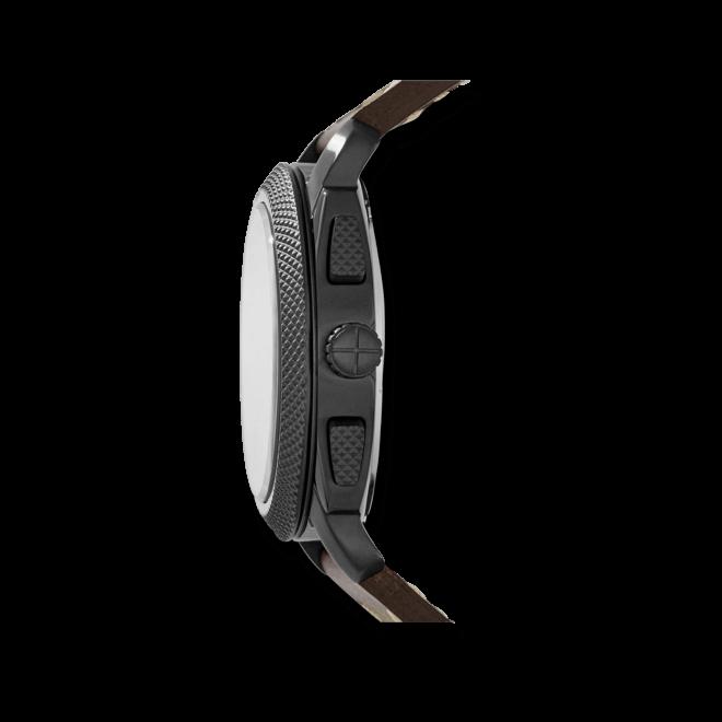 Herrenuhr Fossil Machine Chronograph 46mm mit braunem Zifferblatt und Kalbsleder-Armband