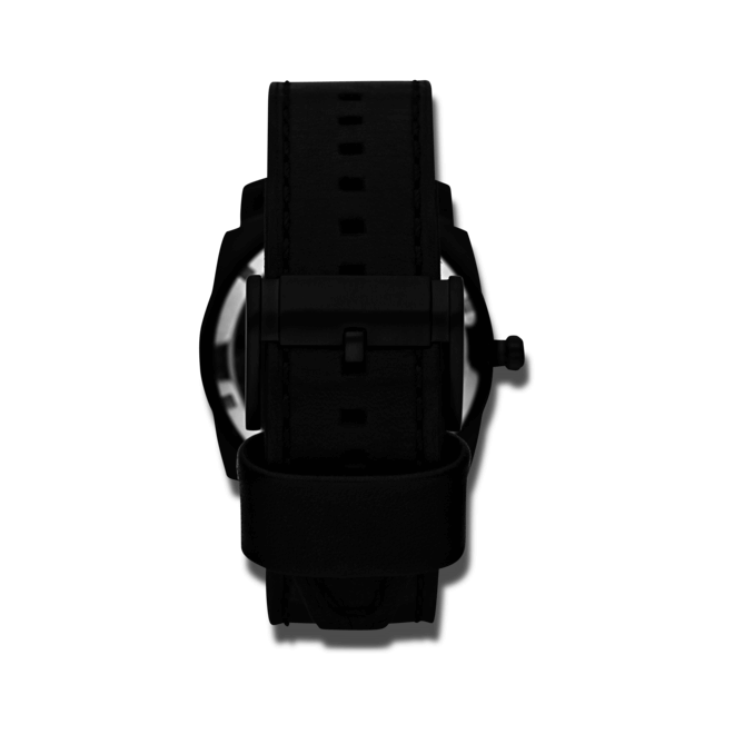 Herrenuhr Fossil Machine Mechanical Twist 45mm mit schwarzem Zifferblatt und Kalbsleder-Armband