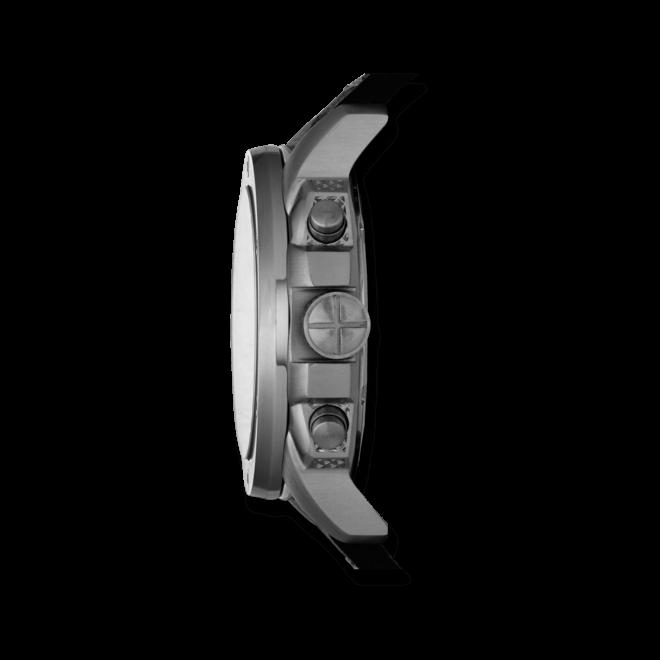 Herrenuhr Fossil Modern Machine 45mm mit schwarzem Zifferblatt und Kalbsleder-Armband
