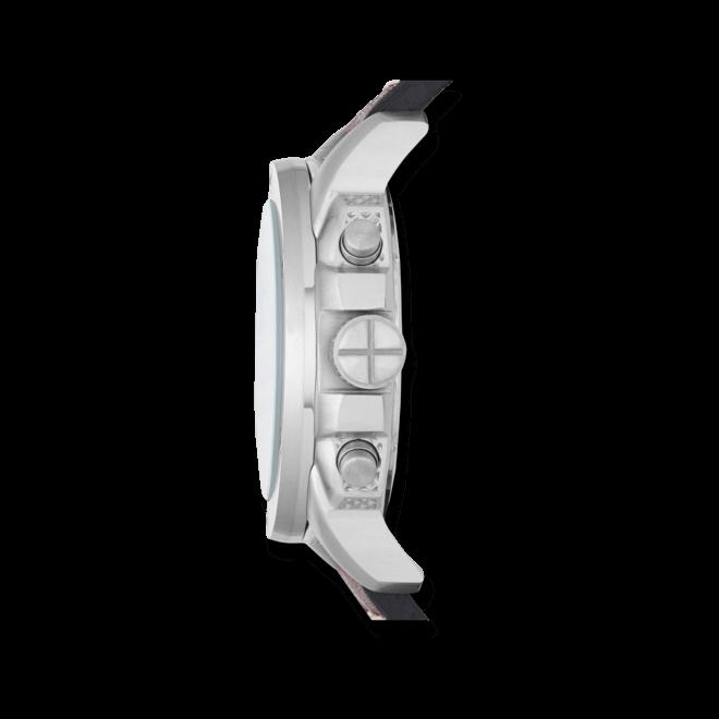 Herrenuhr Fossil Modern Machine 45mm mit elfenbeinfarbenem Zifferblatt und Kalbsleder-Armband