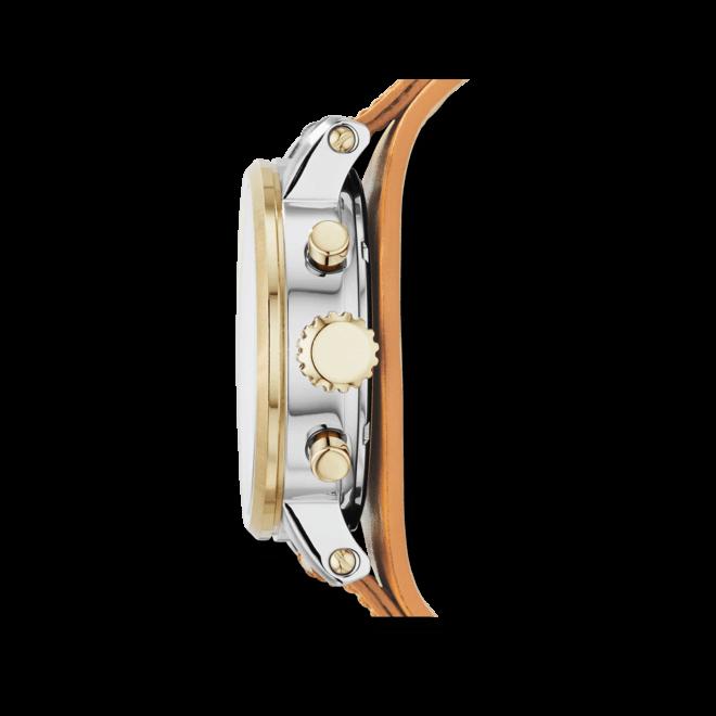 Damenuhr Fossil Original Boyfriend 38mm mit weißem Zifferblatt und Kalbsleder-Armband