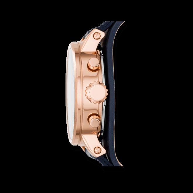 Damenuhr Fossil Original Boyfriend 38mm mit silberfarbenem Zifferblatt und Rindsleder-Armband
