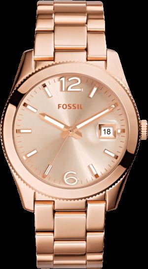 Damenuhr Fossil Perfect Boyfriend 39mm mit roségoldfarbenem Zifferblatt und Edelstahlarmband