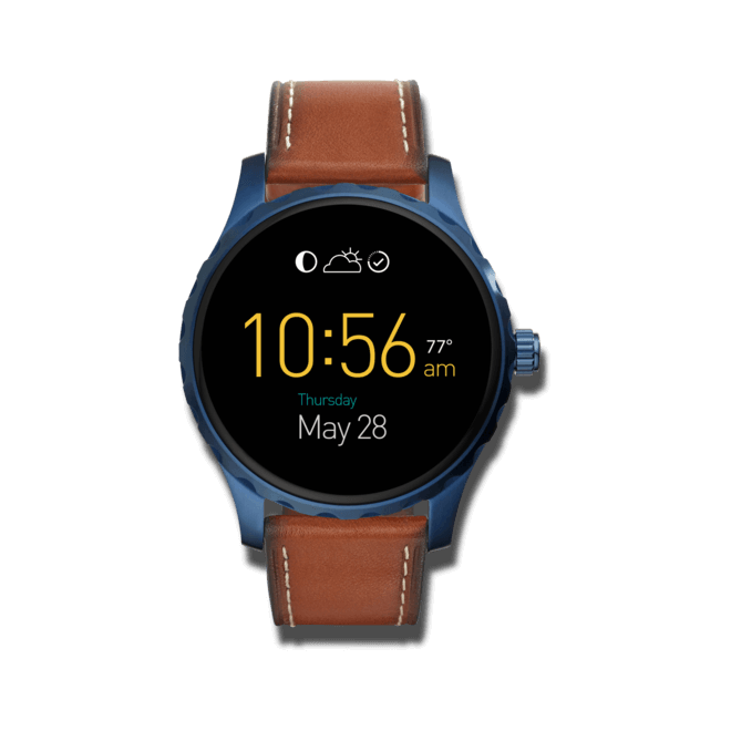 Smartwatch Fossil Q Marshal mit Kalbsleder-Armband
