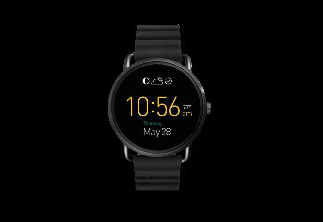 Smartwatch Fossil Q Wander mit Silikonarmband