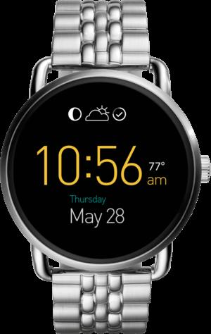 Smartwatch Fossil Q Wander mit Edelstahlarmband