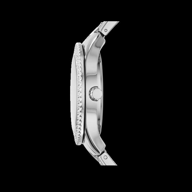 Damenuhr Fossil Stella 38mm mit silberfarbenem Zifferblatt und Edelstahlarmband