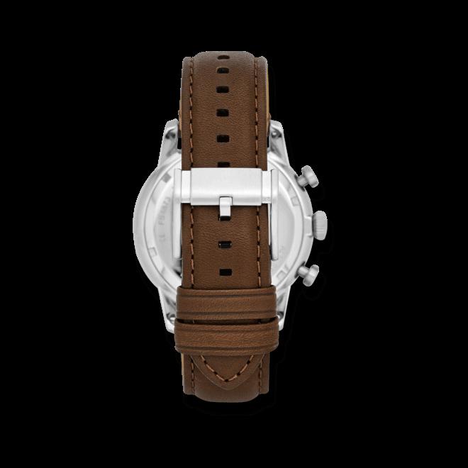 Herrenuhr Fossil Townsman 44mm mit schwarzem Zifferblatt und Kalbsleder-Armband