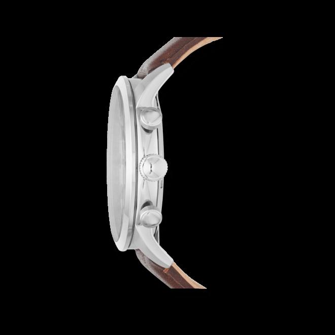 Herrenuhr Fossil Townsman 48mm mit elfenbeinfarbenem Zifferblatt und Kalbsleder-Armband