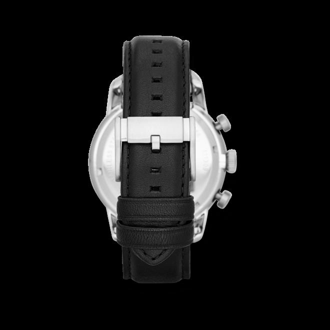 Herrenuhr Fossil Townsman 48mm mit schwarzem Zifferblatt und Kalbsleder-Armband