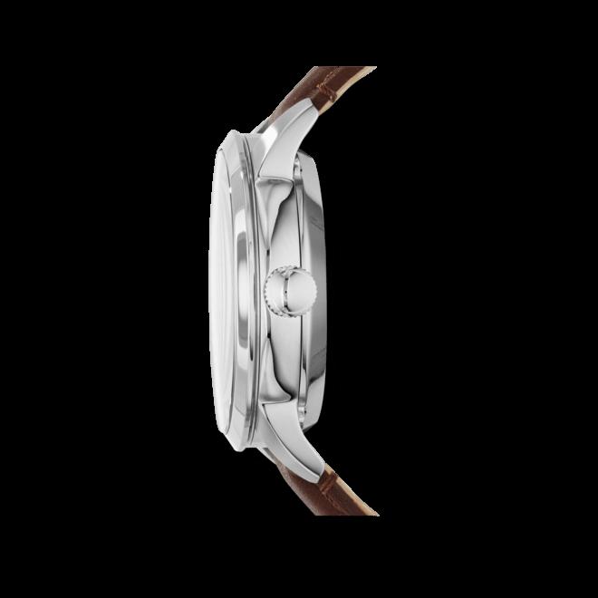 Herrenuhr Fossil Townsman Automatik 44mm mit weißem Zifferblatt und Kalbsleder-Armband