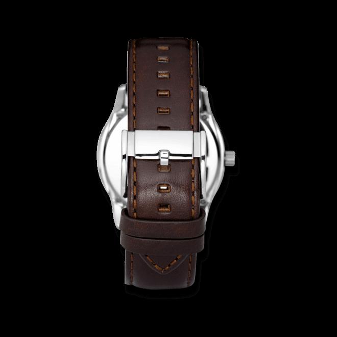 Herrenuhr Fossil Twist 42mm mit grauem Zifferblatt und Kalbsleder-Armband