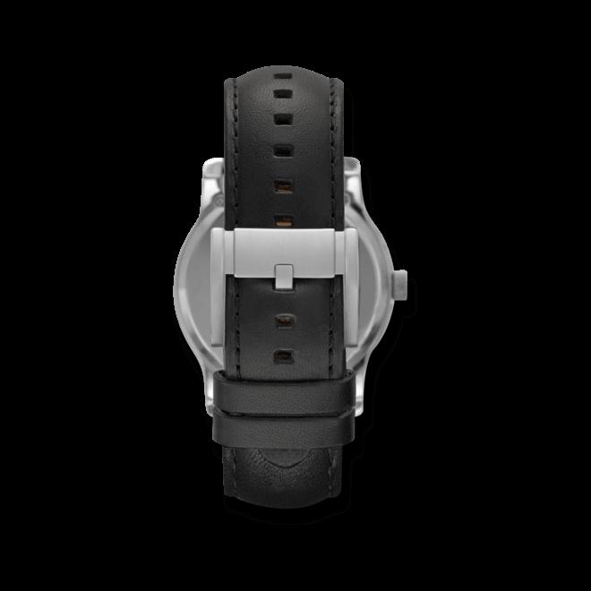Herrenuhr Fossil Twist 42mm mit schwarzem Zifferblatt und Kalbsleder-Armband