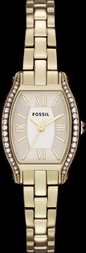Damenuhr Fossil Fossil Molly 23mm mit gelbgoldfarbenem Zifferblatt und Edelstahlarmband