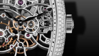 Franck Muller Curvex Skeleton Diamanten 39mm